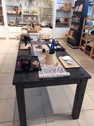 8 u0027 farmhouse table with ebony finish solid wood farm table