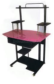 Pink Computer Desk Computer Desk Pink Glass Amt 779 By Home Source