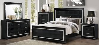 coaster zimmer bedroom set black 203721 bed set at homelement