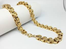 mens byzantine necklace gold images 8 5mm fashion jewelry trendy byzantine cuban link chain men 39 s 316l jpg