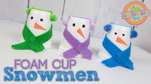 snowman cup craft for kids youtube