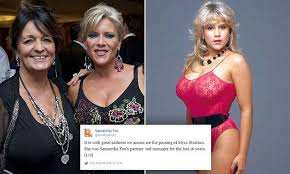 Amber Stratton Meme - samantha fox devastated after the death of long term girlfriend