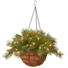 national tree company 20 in fir hanging basket with