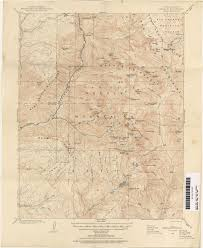 Colorado Mountain Map by