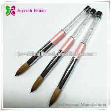 asian nail brush supply kolinsky hair rhinestone handle acrylic