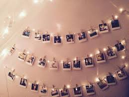 on hanging up polaroid pictures with lights http t