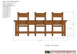free dining room table plans home garden plans ds100 dining table set plans woodworking