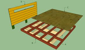 Plans For A King Size Platform Bed With Drawers by Platform Bed Frame Plans Howtospecialist How To Build Step By