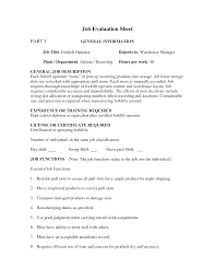 best ideas of sample resume for warehouse forklift operator with