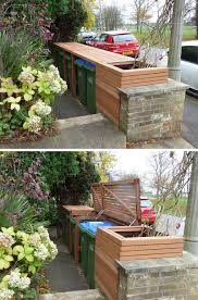 Backyard Garbage Cans by Garbage And Recycling Storage Ideas Hide Your Garbage And
