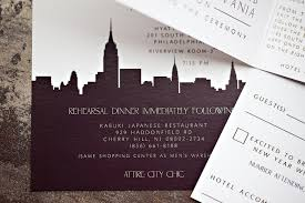 wedding invitations nyc tri fold booklet wedding invitation modern ny skyline lepenn