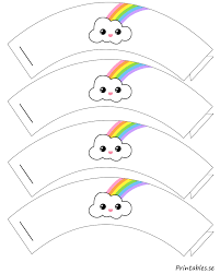 cupcake wrapper rainbow 2