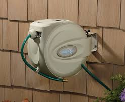 chic retractable garden hose reel wall mount 17 best ideas about