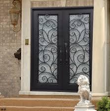 Exterior Door Inserts Wrought Iron Doors Also Wrought Iron Deck Railing Also Wrought