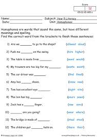 primaryleap co uk homophones worksheet