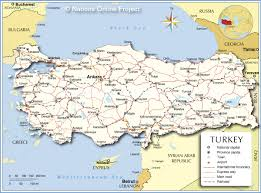 Map Of Mediterranean Countries Political Map Of Turkey Nations Online Project