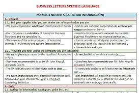 Business Letter Language letters specific language for users