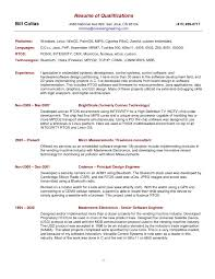 Example Of Resume Skills Section by Resume Qualifications Section Sample Resume Format