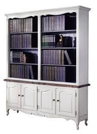 french provincial furniture white bookcase wholesales direct