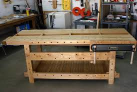 Woodworking Bench Top Material by Garage Ideas Garage Workbench Top Material