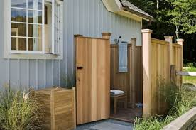 outside bathroom ideas ready made outdoor shower ideas enclosure designs bee home plan