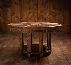 leather and twig octagonal table u2014 corkiture