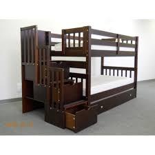Whalen Bunk Beds Whalen Emily Wood Bunk Bed With Bookshelf Espresso
