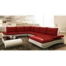 m canapé canapé d angle design panoramique et blanc m achat vente
