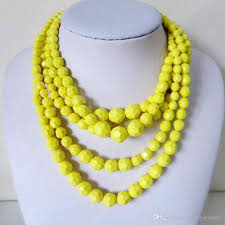 wholesale beaded necklace images 2018 yellow beaded necklace layered fashion hot sale necklace jpg