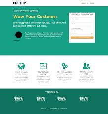 customer support app sunny landing page template