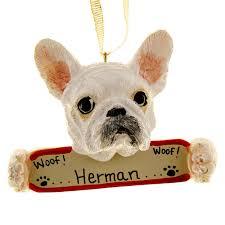 personalized bulldog ornament bulldog