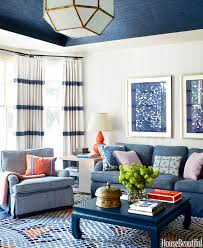 blue and white family room house beautiful pinterest lindsay coral harper project in house beautiful quintessence