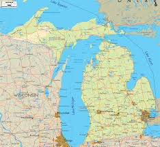 Map Of Michigan And Canada by Michigan Map Wallpaper Wallpapersafari