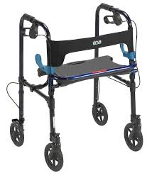 senior walkers with wheels clever lite walker with 8 wheels drive