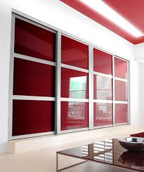 Door Designs For Bedroom by Contemporary Wardrobe Design With Glass And Also Metal Frame Plus