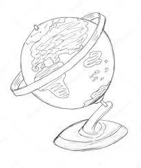 globe drawing u2014 stock photo nadyaus 2983276