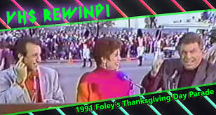 the 1991 foley s thanksgiving day parade co hosted by bronson
