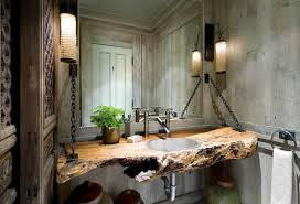 Wood Bathroom Vanities Cabinets by Bathroom Reclaimed Wood Vanity With White Sink And Faucet Plus