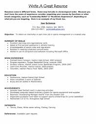 Images Of A Good Resume Resume Setup Example 87 Cool Two Page Resume Sample Template