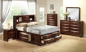Shelf Bed Frame Bedroom Modern Bedroom Design With Brown Cherry Bed Frame