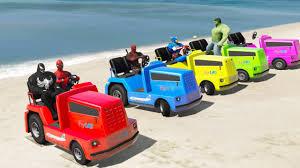 color trucks spiderman cartoon kids disney cars