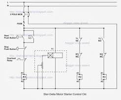 star delta starter control wiring diagram with explanation circuit