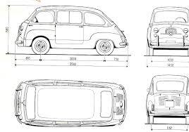 fiat multipla 600 fiat 600 multipla blueprint download free blueprint for 3d modeling