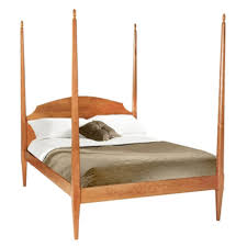 shaker pencil post canopy bed solid wood american wood beds