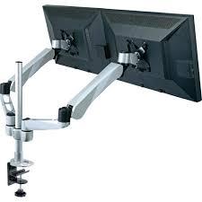 support ecran pc pour bureau support de bureau pour deux écrans xergo 60mm p prix pas cher