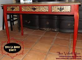 viva la rouge leopard u0026 red desk vanity and chair thee