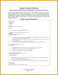 100 Teacher Resume Templates Curriculum by 100 Best Resume Format For Teachers 3 Tips From The Best