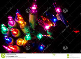 Colored Christmas Lights by Christmas Lights Shining In The Darkness Stock Photo Image 59058738