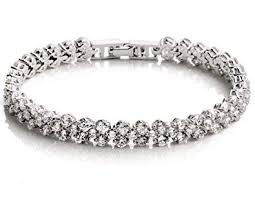 white gold crystal bracelet images Dazzle flash women 39 s white gold plated austrian jpg