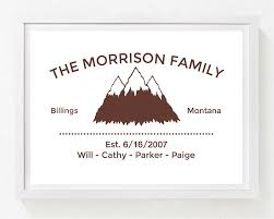 personalized family name print alley children s